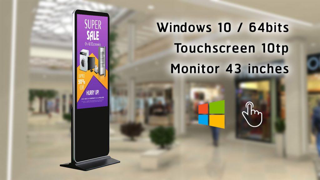 เช่า คีออส ทัชสกรีน วินโดว์ Windows touchscreen kiosk stand