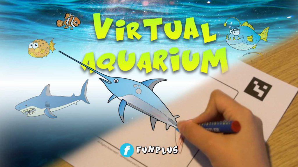 virtual aquarium ระบายสี สัตว์น้ำ ว่ายน้ำ